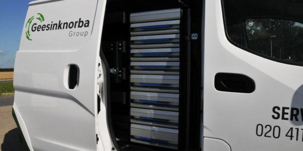 Geesink Norba bedrijfswageninrichting Sortimo Verbruggen
