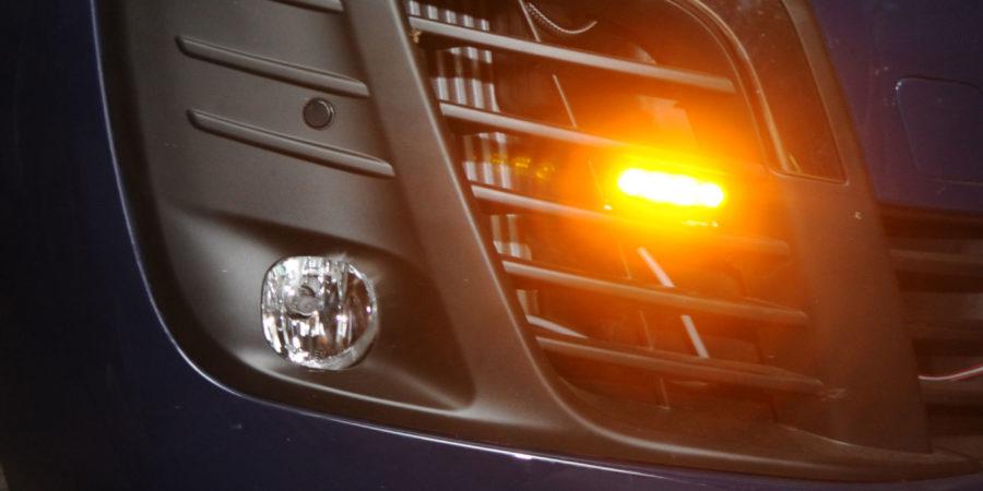 Extra verlichting bedrijfswagen