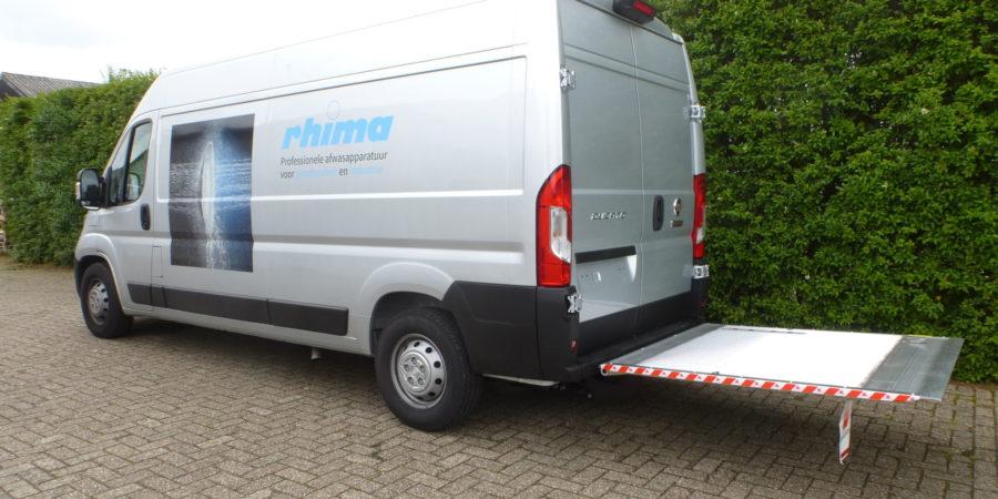 dhollandia laadklep bedrijfswagen verbruggen bwi