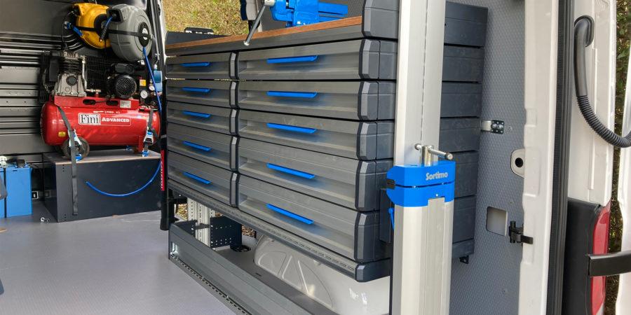 Verbruggen SR5 bedrijfswageninrichting Sortimo